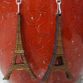 Eiffel Tower laser cut earrings