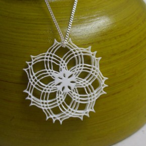 Triplet Rosette necklace