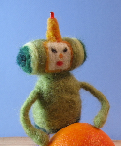 Needle felted Prince of all Cosmos