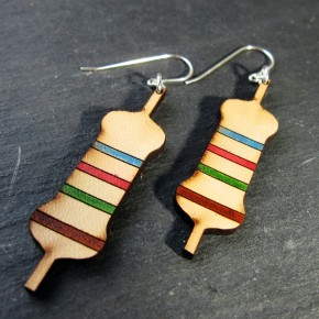 Resistor leather earrings