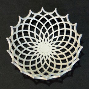 spiky bowl white slate