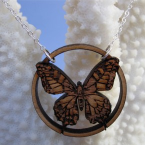 Vitruvian Butterfly necklace